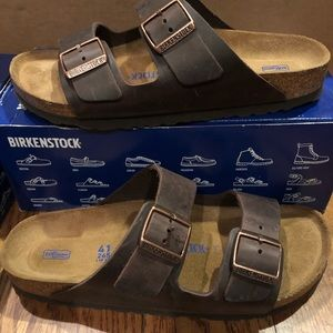 Birkenstock Arizona brown leather 10 narrow new
